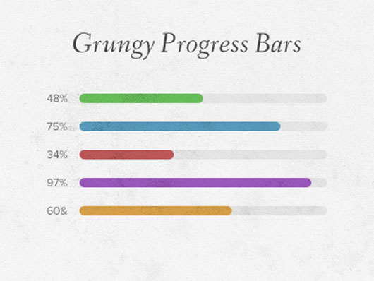 Grungy Progress Bars