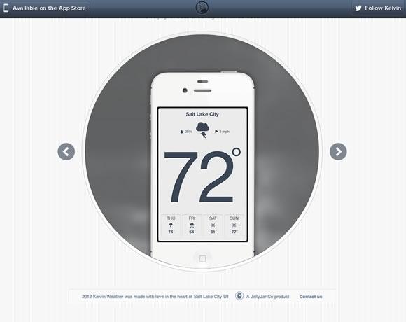精心设计的iPhone和Android应用程序网站