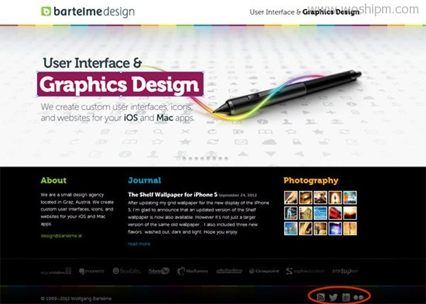 Social media sharing icons influence web designs