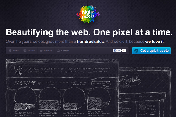 dark rainbow website colors theme design