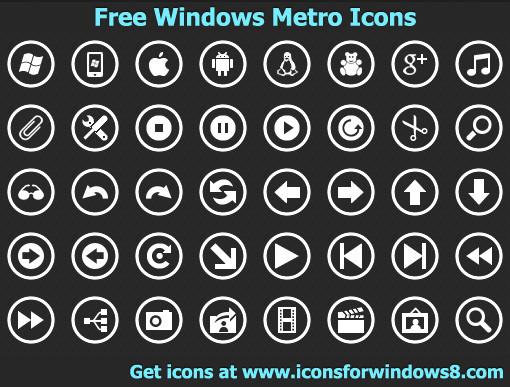 4. metro icons
