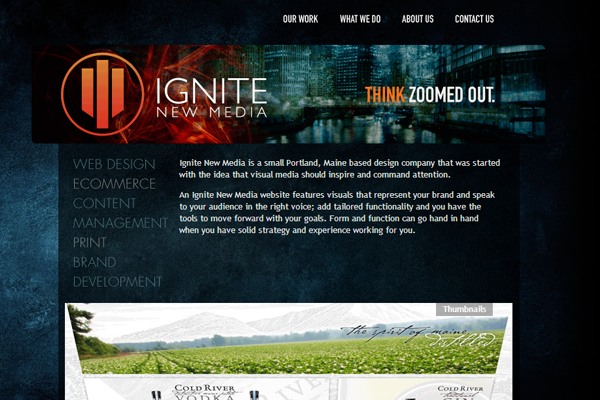 dark grunge header illustration ignite media website