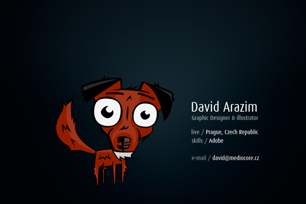 David Arazim Mediocore website portfolio layout