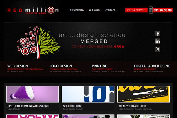 creative digital marketing agency redmillion website