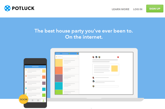 Potluck:变潜水网民为分享者