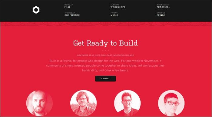 扁平化风格的网页设计案例欣赏