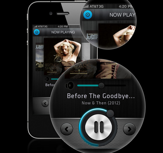iPhone Music Player App Concept by Kiran