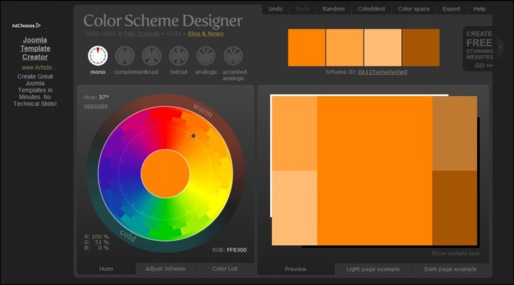 damndigital_12_time-saving-online-color-tools-for-web-designers_color-scheme-designer