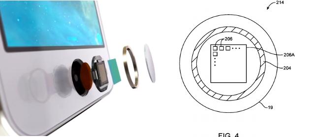 9月6日Apple专利截图,对比 Touch ID 设计