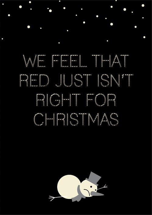 """图4:""""红色是不是不大适合圣诞节啊"""""""