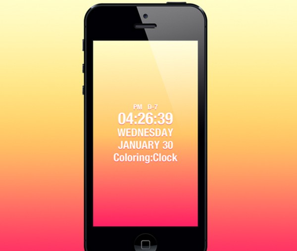 Coloring Clock by Kyung Min Kim