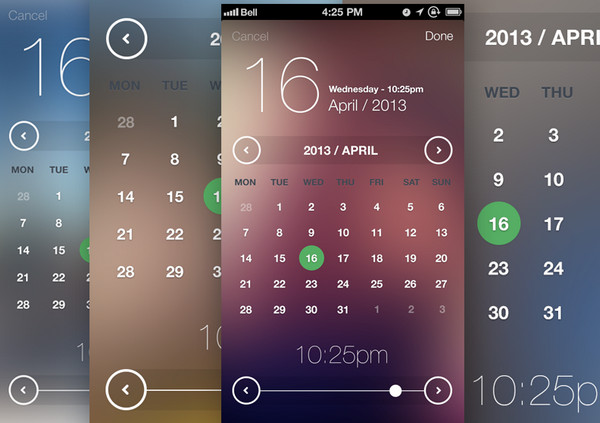 iOS7 Inspired Date & Time Picker by Handsome