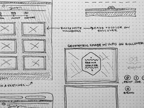 28张手绘网页设计草图(原型图/框架图)