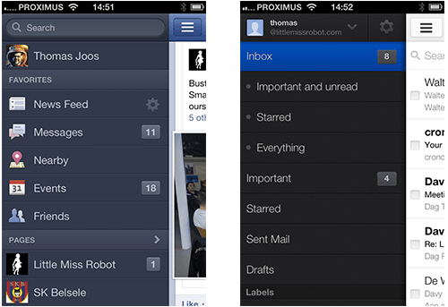 02-facebook-gmail-side-swipe-menu-navigation-gesture-driven-interface-ui-ux-interaction-mobile-app-design-iphone-ios