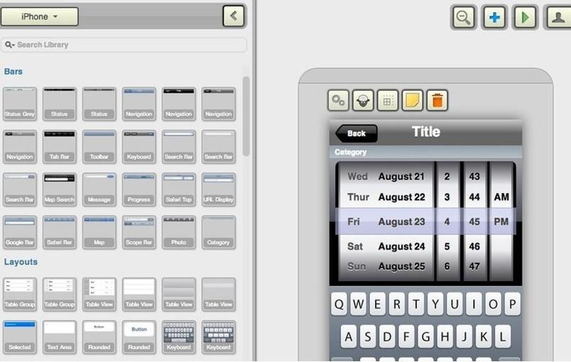 优秀移动APP产品原型设计工具之FluidUI