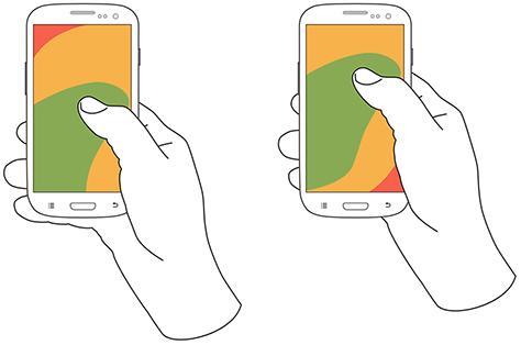App设计中4类便捷的单手操作