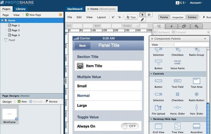 优秀移动APP产品原型设计工具之Protoshare