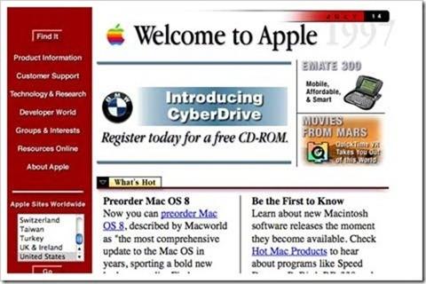 各大互联网公司最早的登入界面是怎样的
