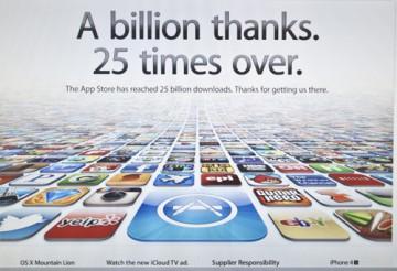 25 Billion apps downloaded Apple announces in Cupertino, California