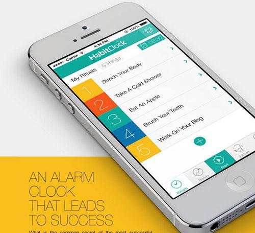 HabitClock App by Kutan URAL 菜单设计 APP设计