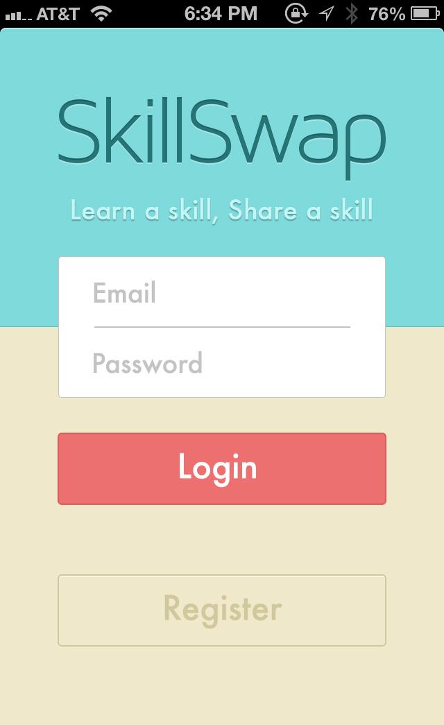 极简登录界面设计,手机App华丽入口