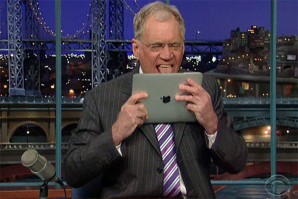 david letterman and ipad