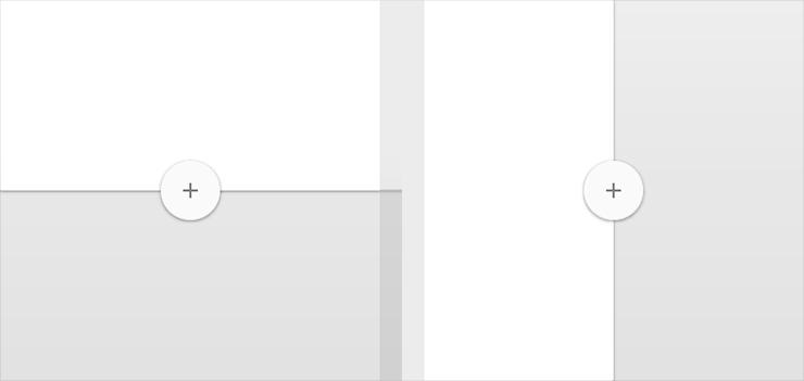 浮动按钮,是一张圆形的纸片,贴在除了系统bar之外的所有的纸片层次之上。