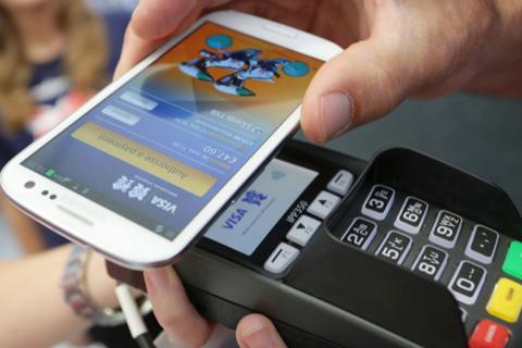 示意图:移动支付,手机支付。