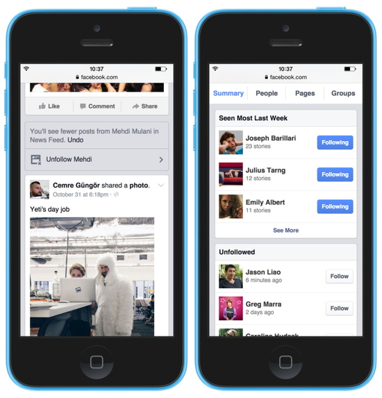 Facebook调整动态消息:支持屏蔽厌恶的朋友页面