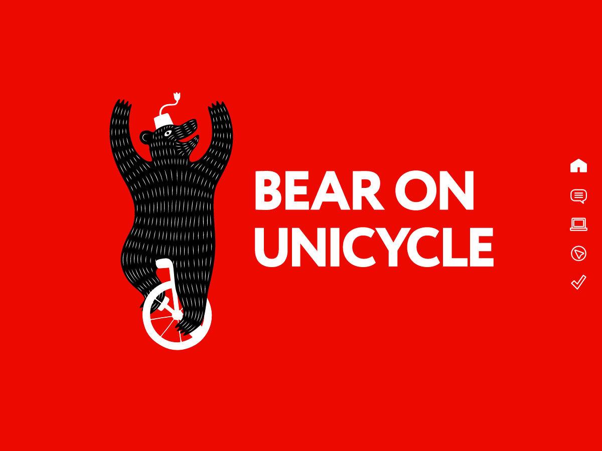 bear on unicycle