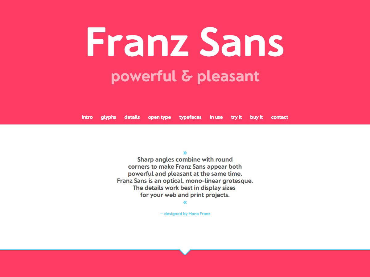 franz sans ecommerce site