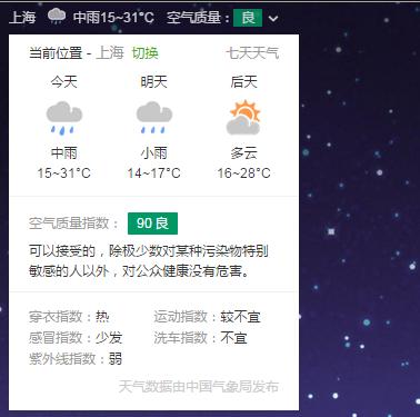 用户体验_好搜天气提示框