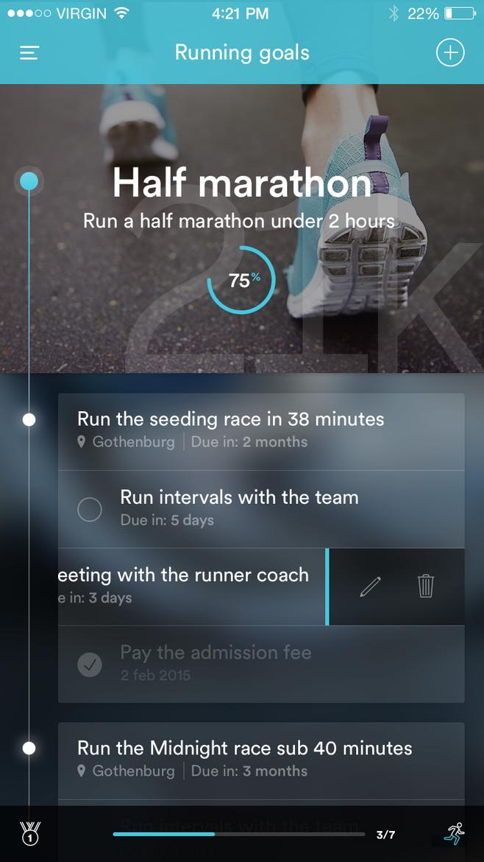 优秀的app界面设计欣赏—运动类app设计