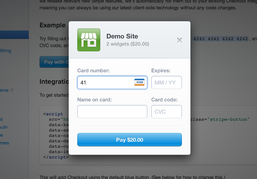 Stripe does is right, detecting the credit card type automatically.