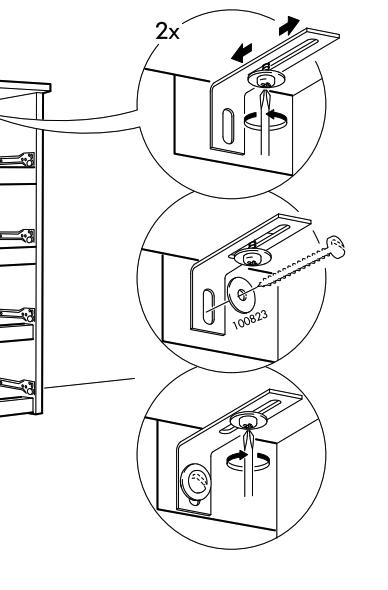 虚线表示不在包装内的零件