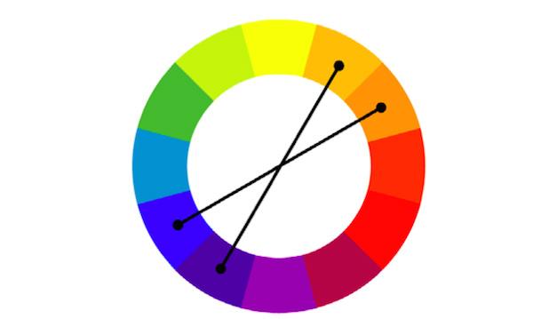 контрастных цвета < /p>