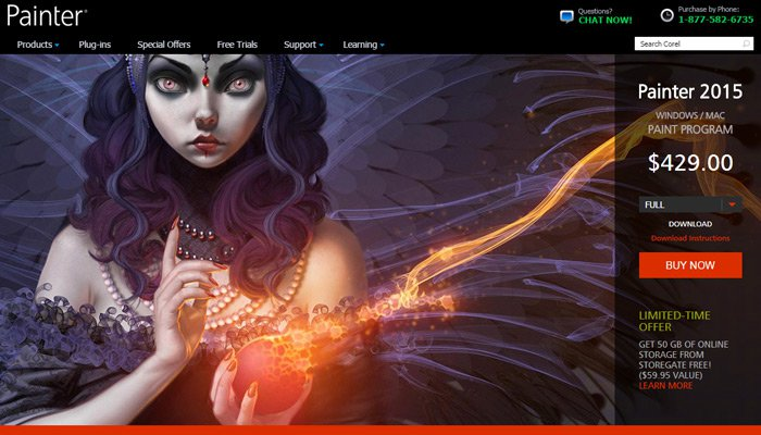 20-painter-software-homepage-design