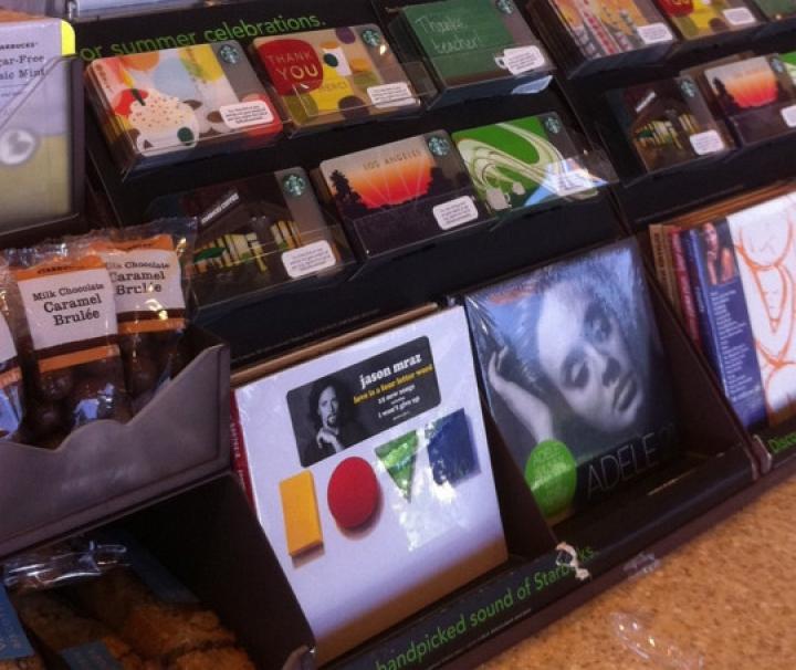 卖CD音乐的星巴克