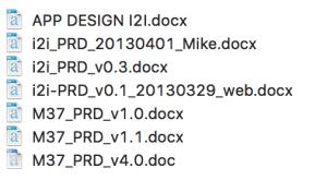 多版本PRD Docs