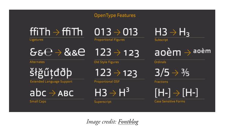 8-OpenType Features