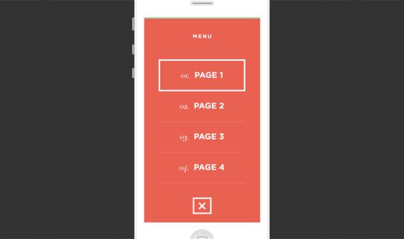 iOS-Menu-Concept