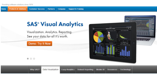 10. SAS VisuaAnalytics // @SASsoftware