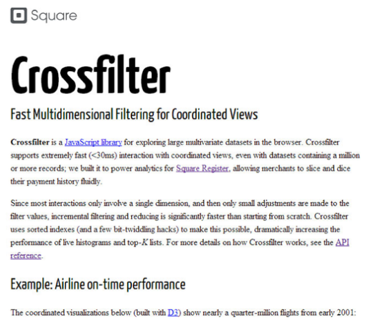 14. Crossfilter