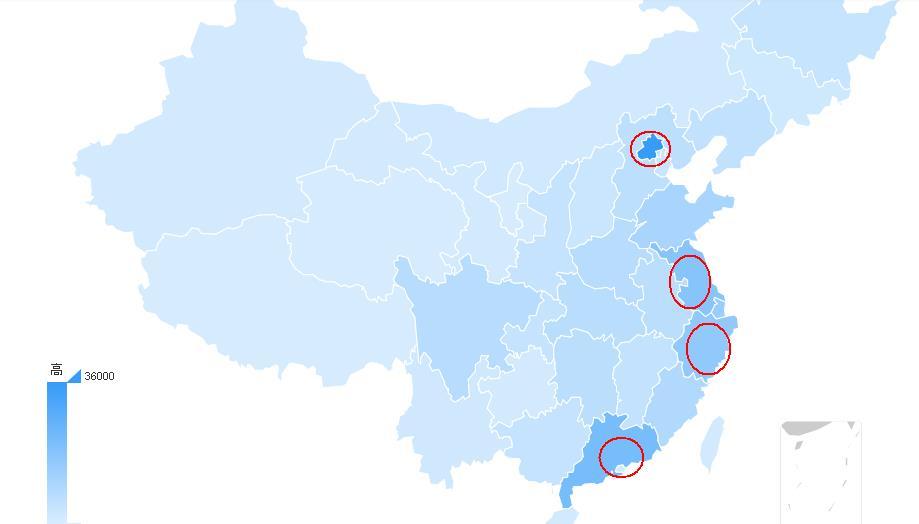 微博热度地域分布