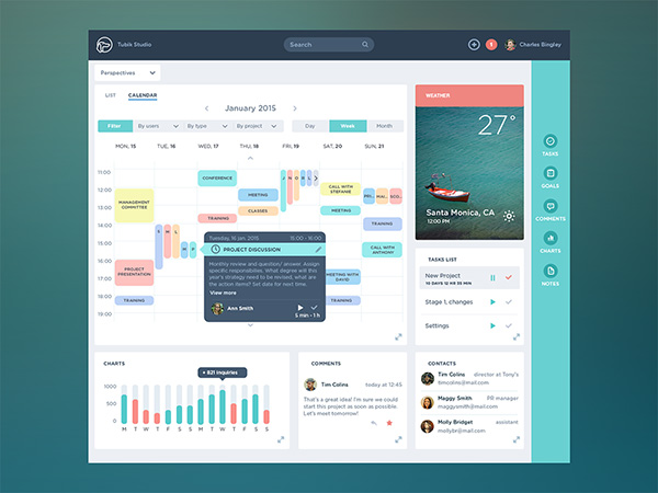 Task Management App Dashboard By Ludmila Shevchenko