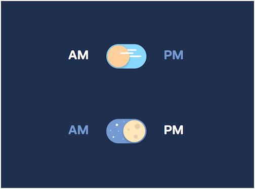 "pora的""纯CSS日夜切换按钮""制作:Benjamin Rethore概念.-18个图片"