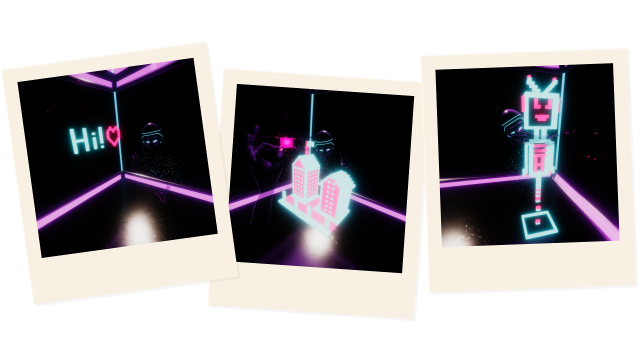 VR result polaroids