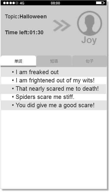 图二 英语陌生人伪社交-对话页面