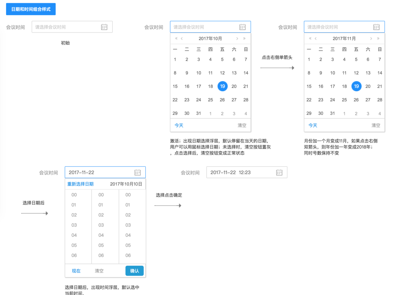 设计规范 | Web端设计组件篇-树和日期时间选择器 | 人人都是产品经理