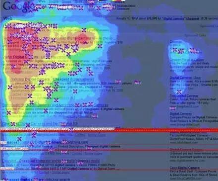 Google 搜索的热力图